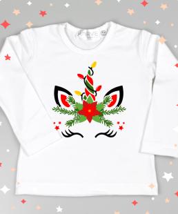 μπλουζακι Χριστουγεννων μονόκερος