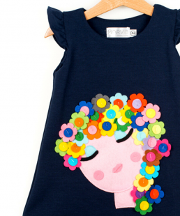φόρεμα κορίτσι με λουλούδια marvie