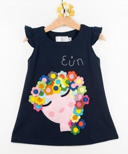 Παιδικό φόρεμα με λουλούδια και όνομα