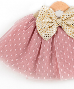 τούλινη φούστα πουά σάπιομήλο για κορίτσια