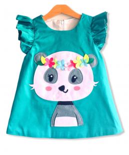 Χειροποίητο Παιδικό Φόρεμα Panda