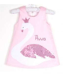 Παιδικό Φόρεμα Κύκνος με Όνομα