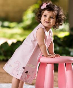 ροζ φόρεμα παιδικό με μονόκερους