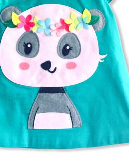 χειροποίητο φόρεμα για κορίτσια Panda