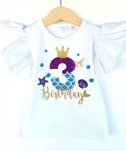 μπλουζάκι γενεθλίων γοργόνα