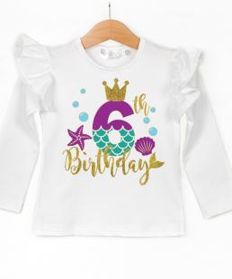 μπλούζα για γενέθλια γοργόνα