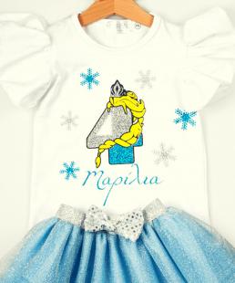 ρούχα γενεθλίων Frozen Elsa