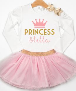 σύνολο με τούλι για κορίτσια Πριγκίπισσα με όνομα