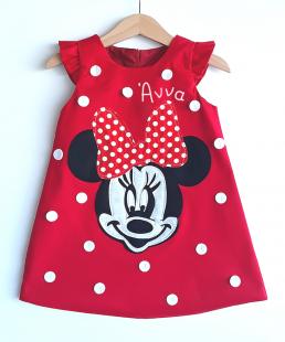 παιδικό φόρεμα minnie Με όνομα