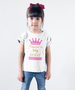 promoted to big sister tshirt