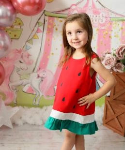 παιδικό φόρεμα καρπούζι