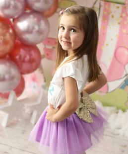 τούλινο σετ γενεθλίων λιλά Princess