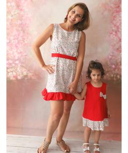 Ασορτί φόρεμα μαμά και κόρη