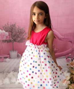 Πολύχρωμο παιδικό φόρεμα για κορίτσια