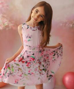 ροζ φόρεμα καλοκαιρινό floral