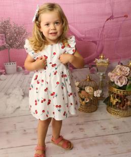 καλοκαιρινό παιδικό φόρεμα κεράσια
