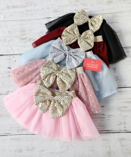 τούλινη φούστα με φιόγκο
